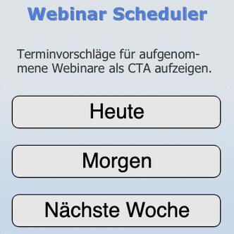 Webinar Scheduler